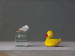"""Birds, Oil on Linen. 9""""x 12"""""""