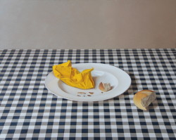 "Yellow Napkin- Oil on Panel, 16"" x 20"""