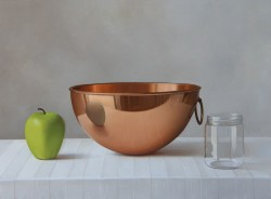 Copper Bowl, Oil on Panel- SOLD
