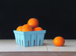 "Mandarins, Oil on Panel 12""x 16"""