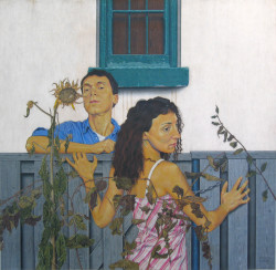 Blind Girl at the Fence- SOLD
