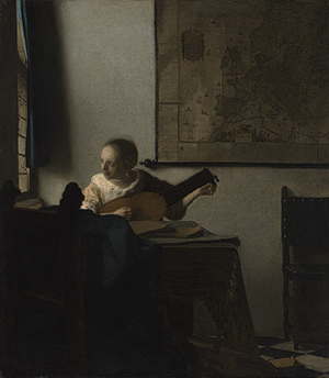 Figure 21. Johannes Vermeer,     Woman with a Lute, c. 1662-1664